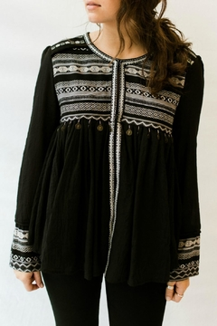Esley Collection Gypsy Embellished Blouse - Product List Image