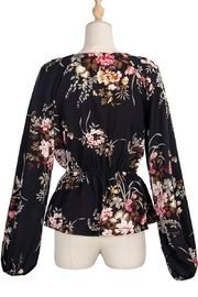 Esley Collection Heavenly Fall Floral Blouse - Other