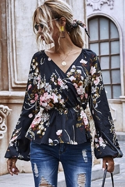 Esley Collection Heavenly Fall Floral Blouse - Product Mini Image