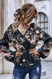 Esley Collection Heavenly Fall Floral Blouse - Back cropped