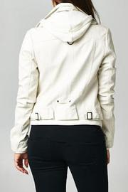 Esley Collection Ivory Moto Jacket - Front full body