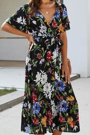 Esley Collection Karla's Black Floral Maxi - Side cropped