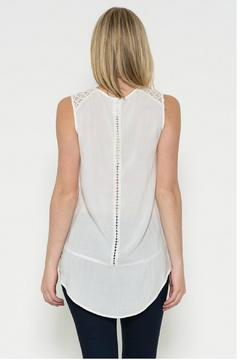 Esley Collection Lace Front Top - Alternate List Image