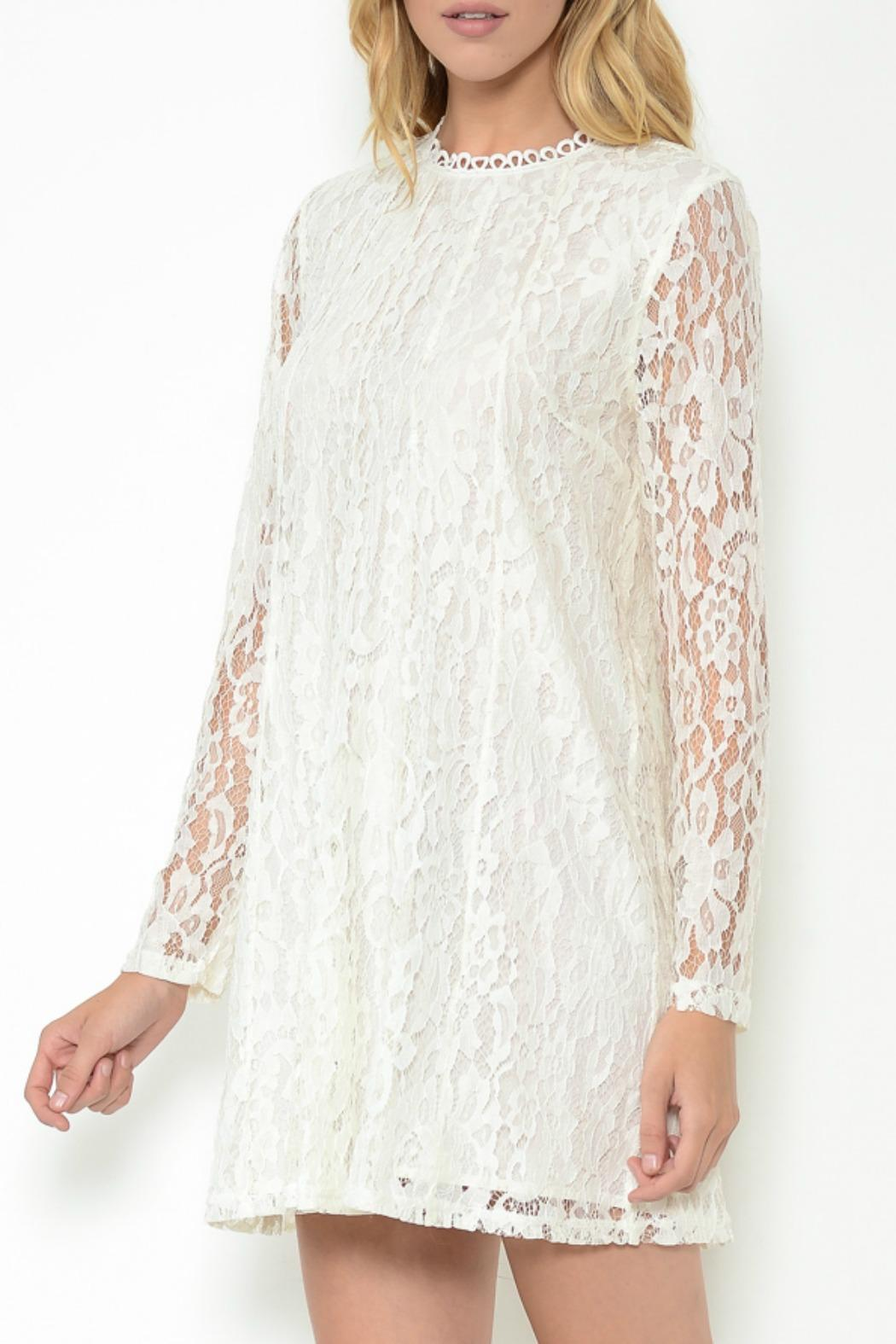 Esley Collection Lace Shift Dress - Main Image