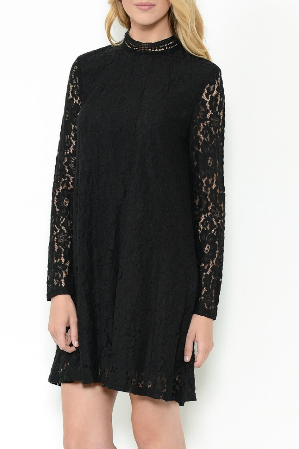 Esley Collection Lace Shift Dress - Front Full Image