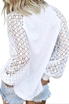 Esley Collection Lace Sleeve Top - Alternate List Image
