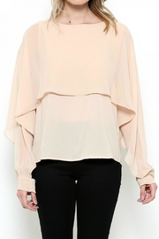 Esley Collection Layered Chiffon Blouse - Product Mini Image