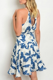 Esley Collection Leaf Print Dress - Side cropped