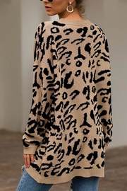 Esley Collection Leopard Over-Sized Sweater - Other