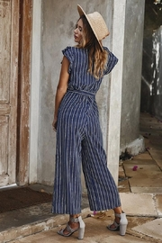 Esley Collection Lovely Navy Jumpsuit - Front full body
