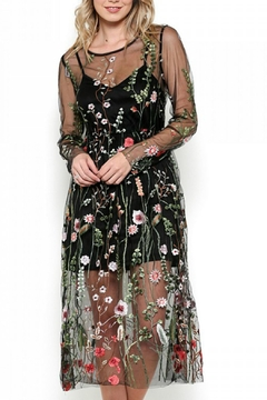 Esley Collection Bohemian Mesh Embroidered Dress - Alternate List Image