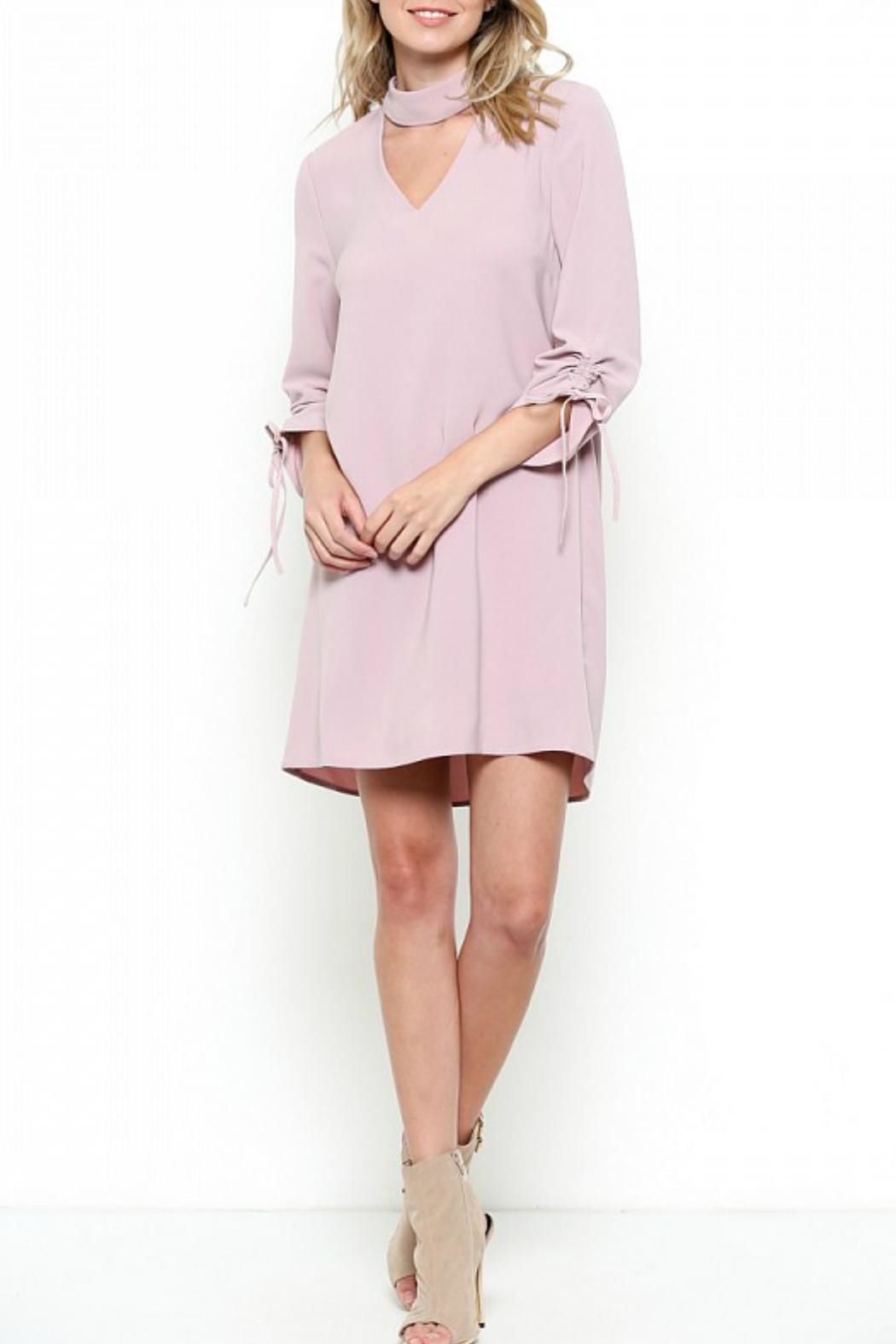 Esley Collection Mock Neck Dress - Main Image