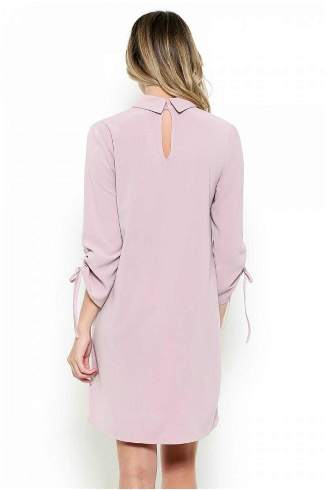 Esley Collection Mock Neck Dress - Front Full Image