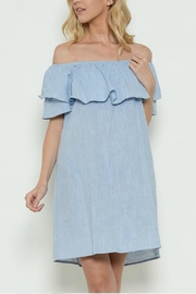 Esley Collection Off-Shoulder Denim Dress - Product Mini Image