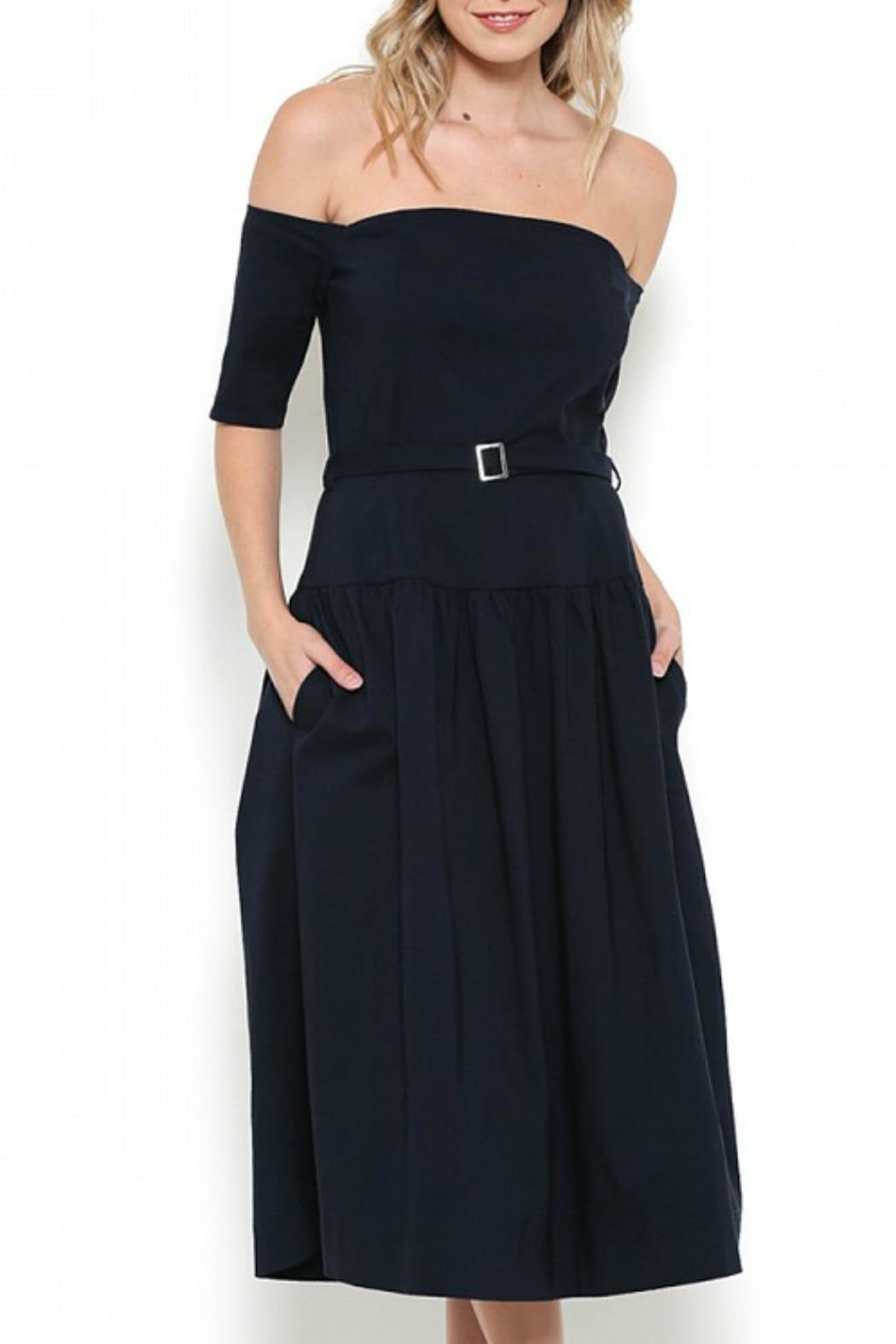 Esley Collection Off Shoulder Midi Dress - Main Image