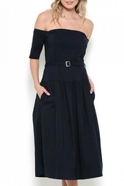 Esley Collection Off Shoulder Midi Dress - Product Mini Image