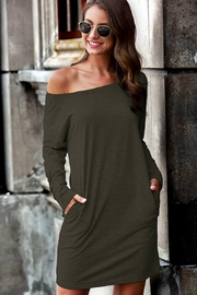 Esley Collection Olive Tunic Dress - Product Mini Image
