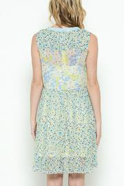 Esley Collection Print Patch Work Dress - Front full body