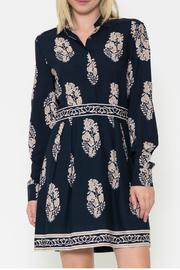 Esley Collection Print Shirt Dress - Front cropped