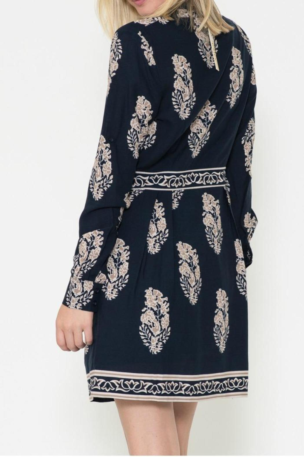 Esley Collection Print Shirt Dress - Front Full Image