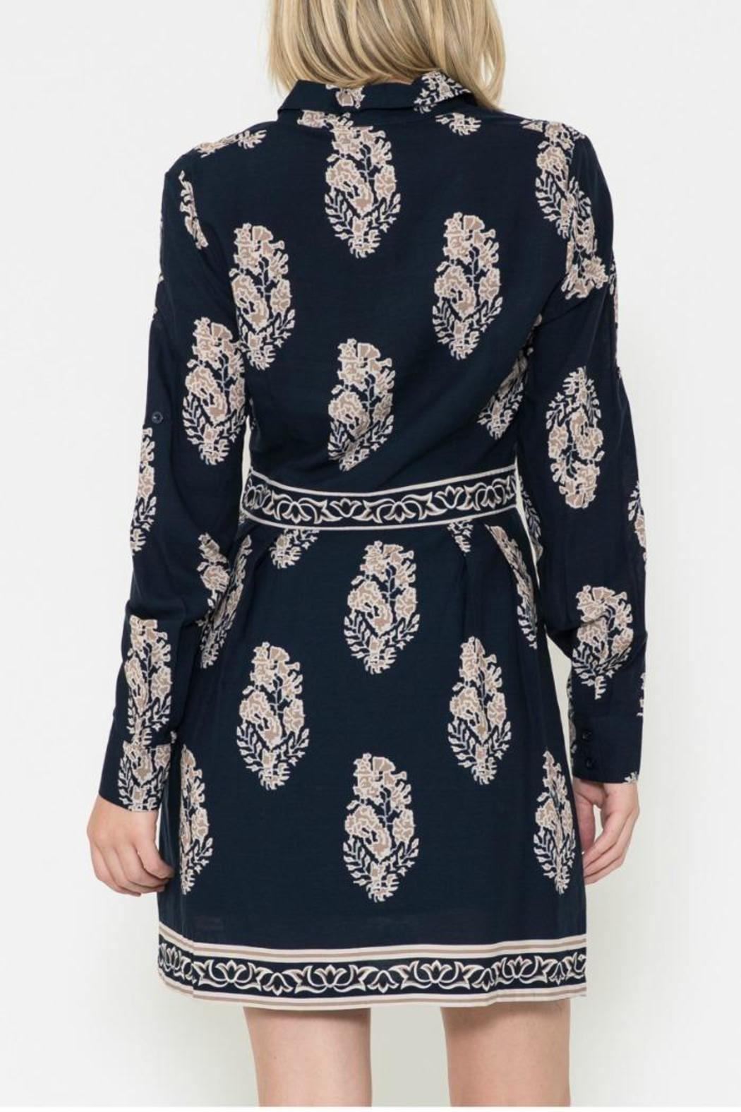 Esley Collection Print Shirt Dress - Side Cropped Image