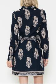 Esley Collection Print Shirt Dress - Side cropped