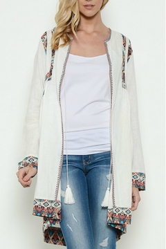 Esley Collection White Boho Cardigan - Product List Image