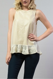 Esley Collection Pu Chiffon Top - Product Mini Image