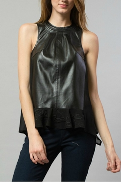 Esley Collection Pu Chiffon Top - Product List Image