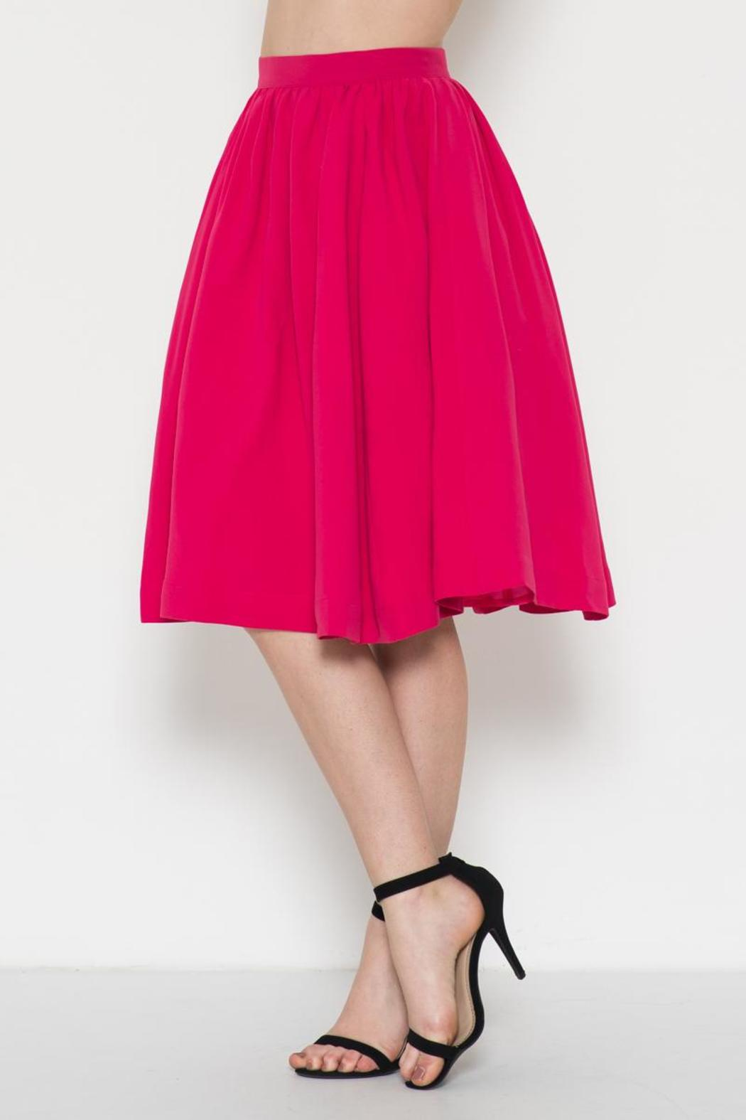 Esley Collection Retro Circle Skirt - Side Cropped Image