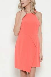 Esley Collection Round Neck Solid Dress - Product Mini Image