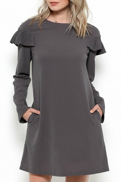 Esley Collection Ruffle Shift Dress - Product List Image