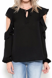 Esley Collection Ruffle Shoulder Blouse - Product Mini Image