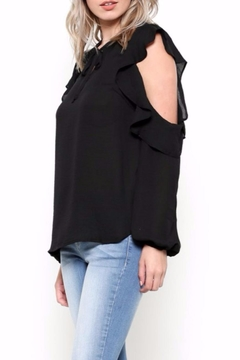 Esley Collection Ruffle Shoulder Blouse - Alternate List Image
