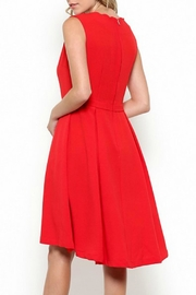 Esley Collection Scallop Neckline Dress - Back cropped
