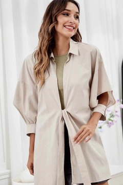 Esley Collection Self Tie Blazer - Product List Image