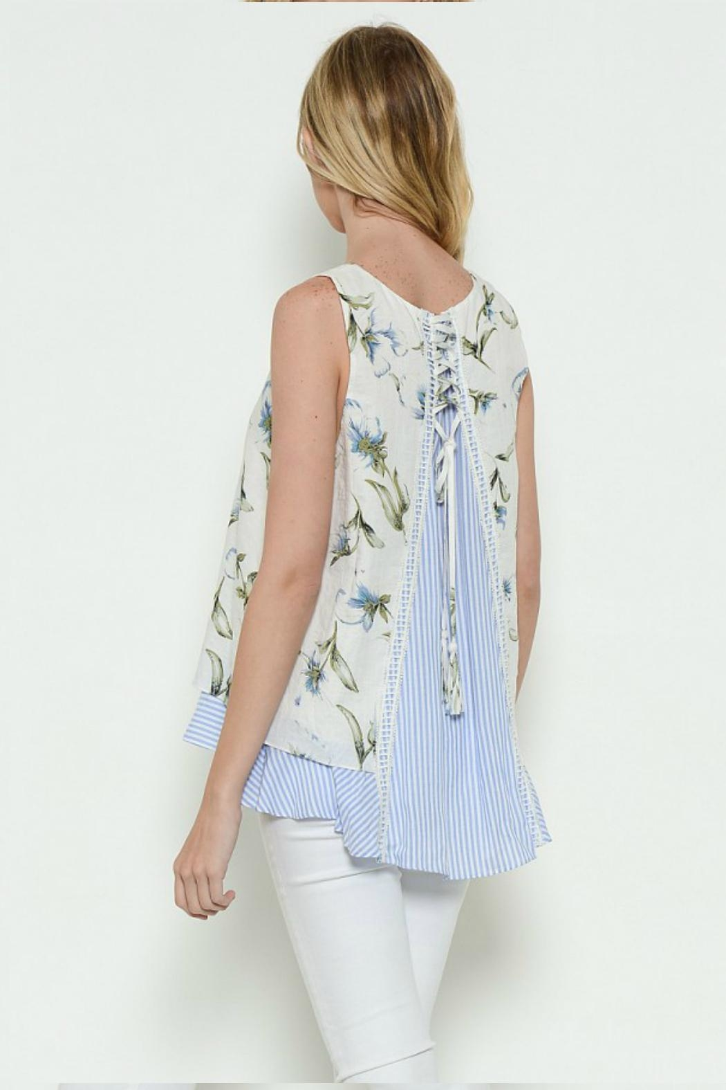 Esley Collection Sleeveless Tank Top - Front Full Image