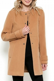 Esley Collection Red Structured Coat - Front full body