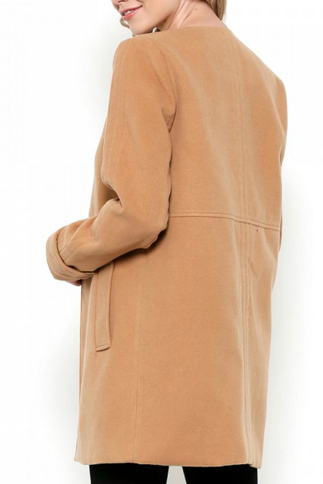 Esley Collection Red Structured Coat - Side Cropped Image