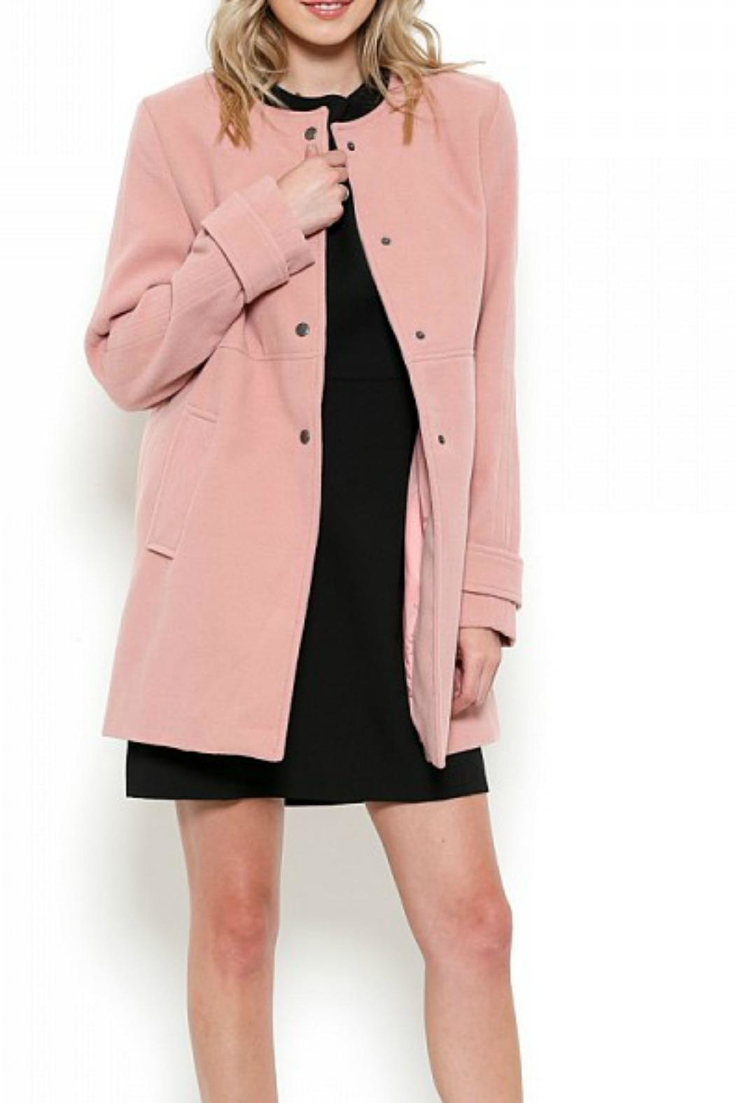 Esley Collection Red Structured Coat - Main Image