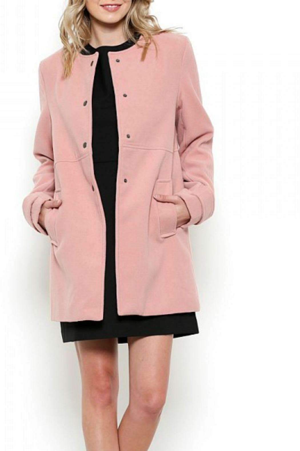 Esley Collection Red Structured Coat - Back Cropped Image