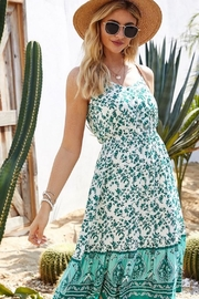 Esley Collection Summer Green Dress - Product Mini Image