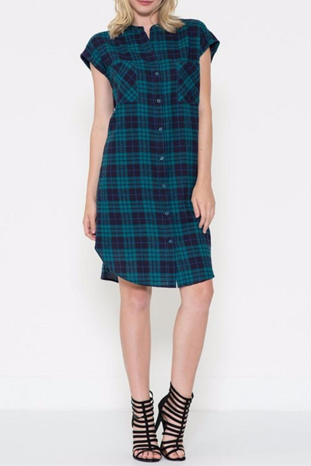 Esley Collection The Blanka Plaid Dress - Front Cropped Image