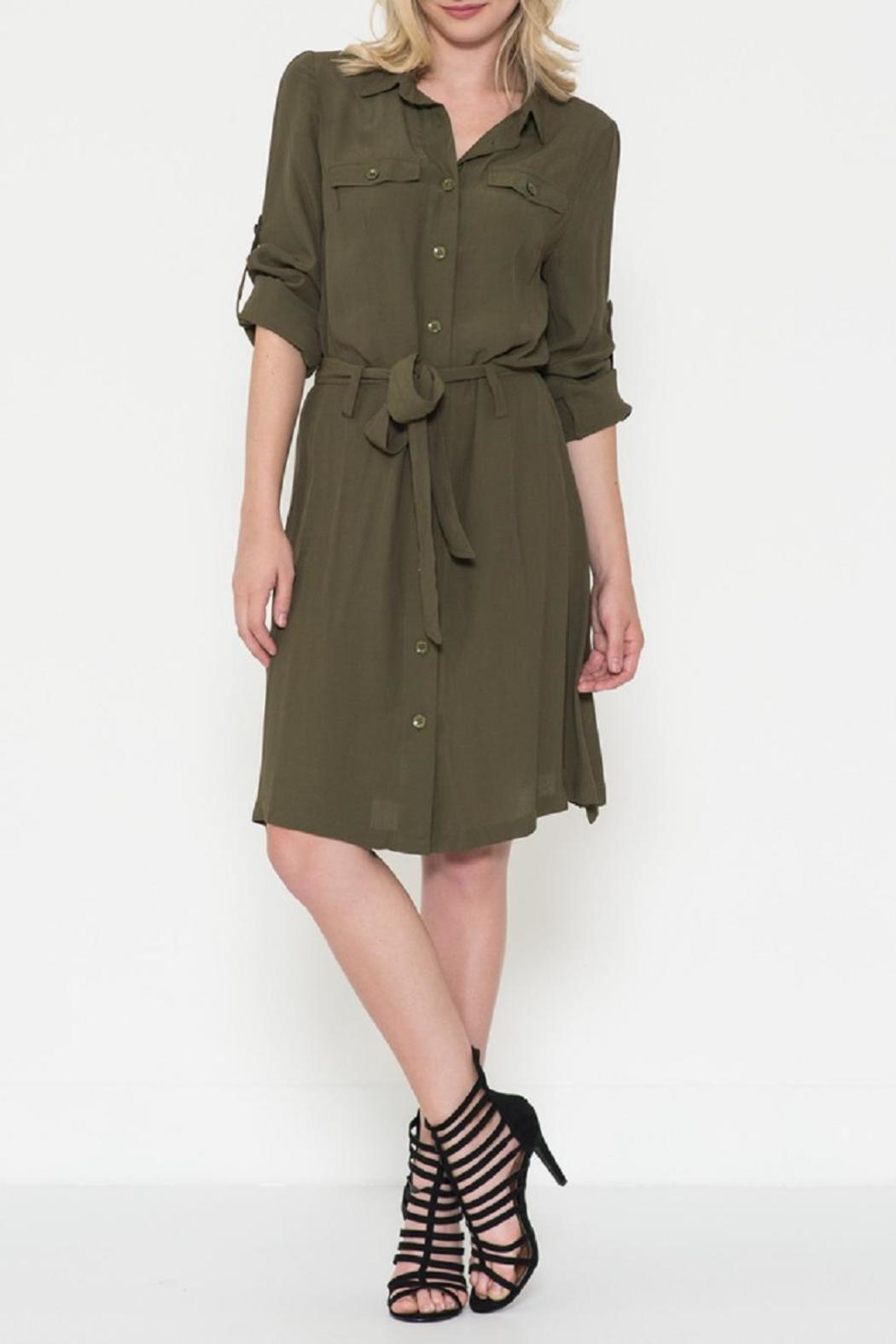 Esley Collection The Maggie Olive Dress - Main Image