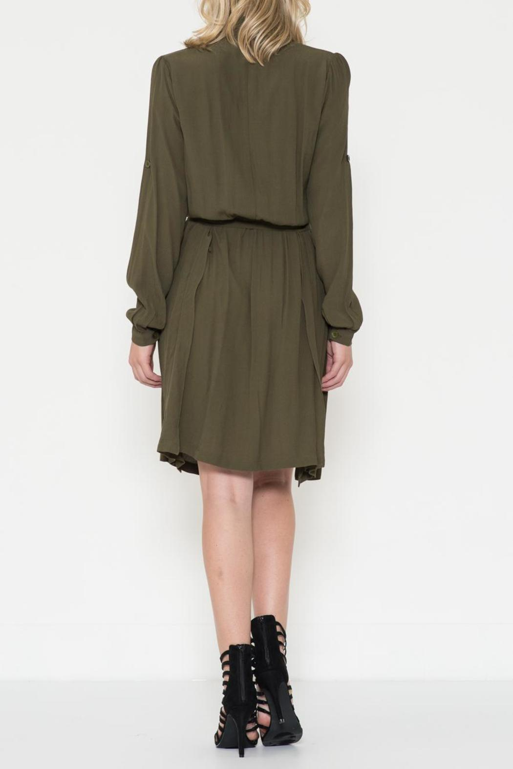 Esley Collection The Maggie Olive Dress - Front Full Image