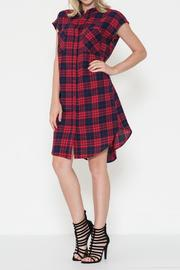 Esley Collection The Paige Plaid Dress - Product Mini Image