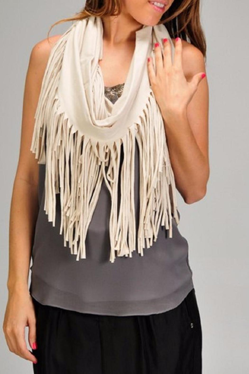 Esley Collection The Rebecca Fringe Scarf - Main Image