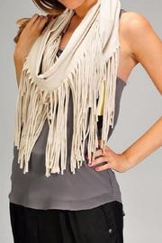 Esley Collection The Rebecca Fringe Scarf - Front full body