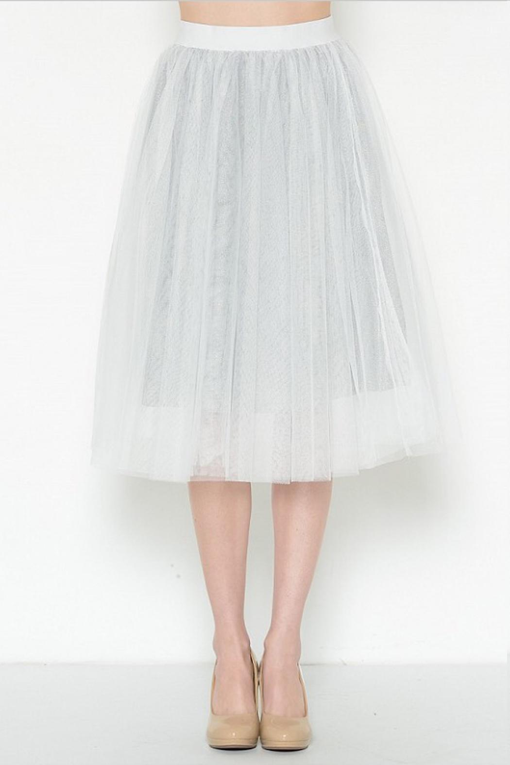 Esley Collection Tulle Aline Skirt - Side Cropped Image