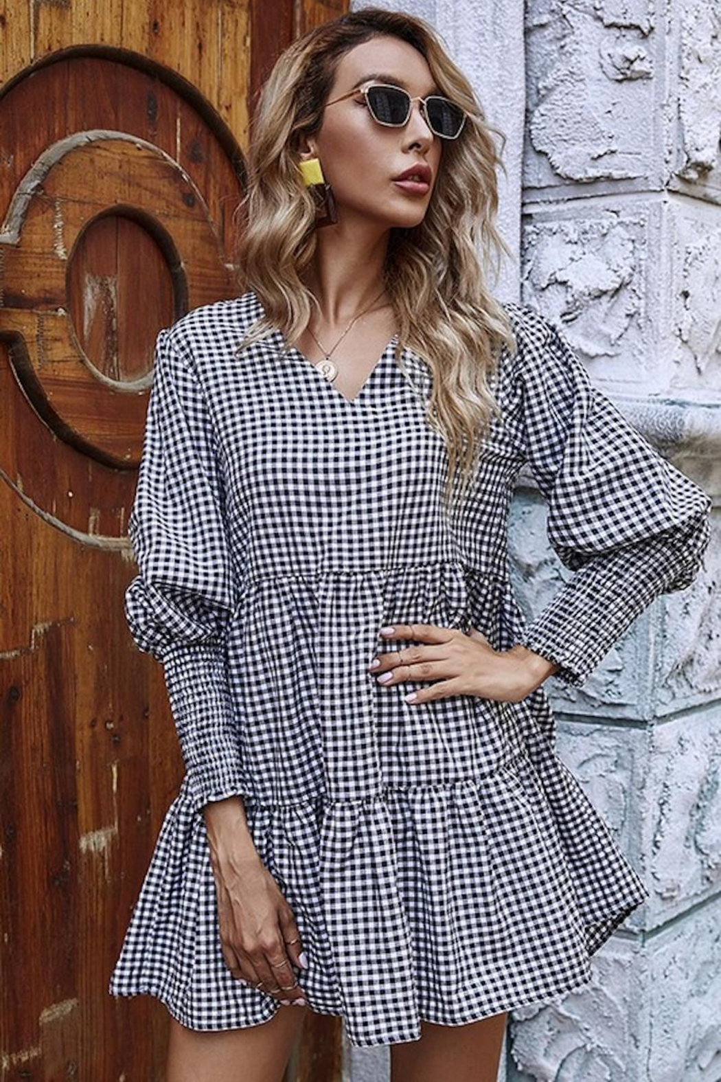 Esley Collection You Had Me At Gingham - Side Cropped Image